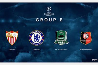 قرعة دوري أبطال أوروبا.. المجموعة الخامسة: إشبيلية وتشيلسي وكراسنودار ورين