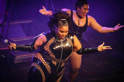 Lizzo on leather