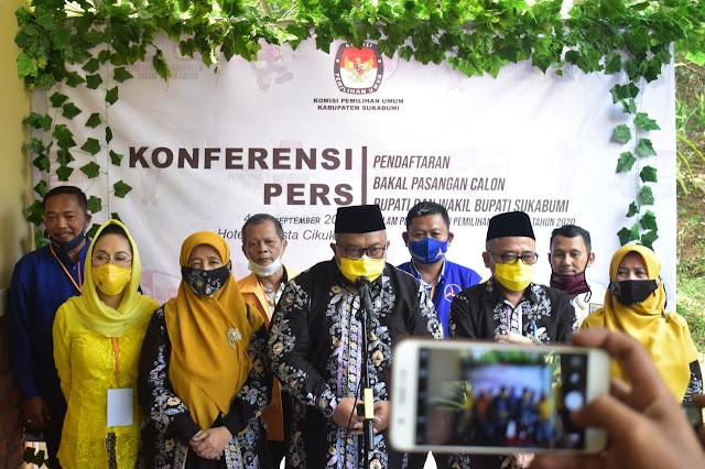 Marwan Hamami - Iyos Sumantri Menjadi Pasangan Ke 3 Yang Sudah Mendaftar Ke KPU Kabupaten Sukabumi