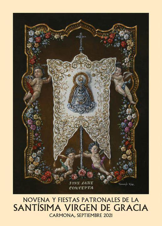 Cartel de la Stma Virgen de Gracia Coronada, Patrona de Carmona 2021