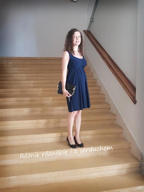 Ciążowa sukienka z super jersey