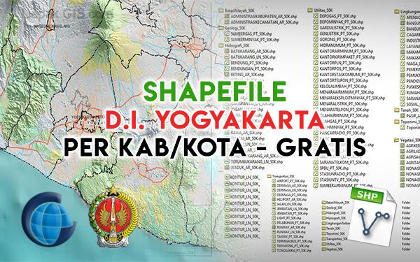 Shapefile Gratis Provinsi D.I. Yogyakarta Indonesia