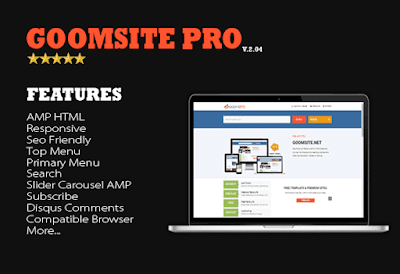 Update: Goomsite Pro AMP HTML v3.00 Responsive Blogger Template