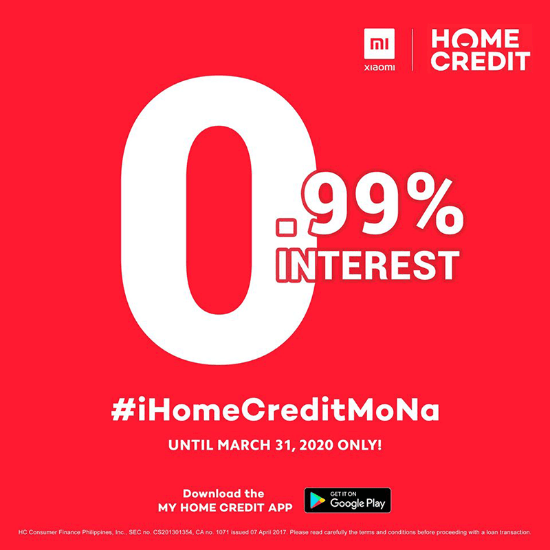 Select Xiaomi phones are available via Home Credit's 0.99 percent program until March 31