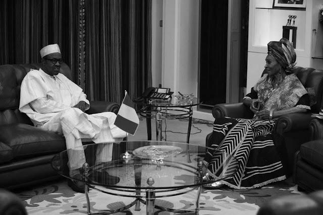 Muhammadu Buhari Morns the death of Otunba Dr. Bola Kuforiji-Olubi.