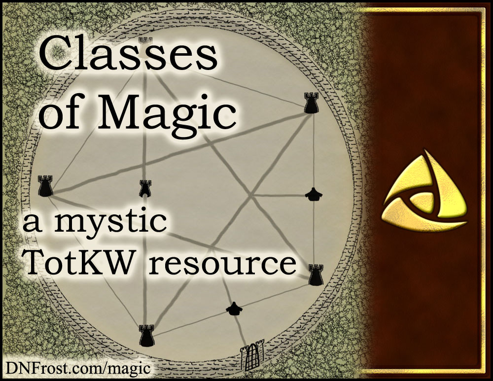 Classes of Magic: instinctive talents and studied skills www.DNFrost.com/magic #TotKW A mystic resource by D.N.Frost @DNFrost13 Part 3 of a series.