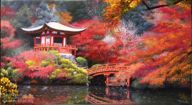 Tranh phong cảnh Kyoto
