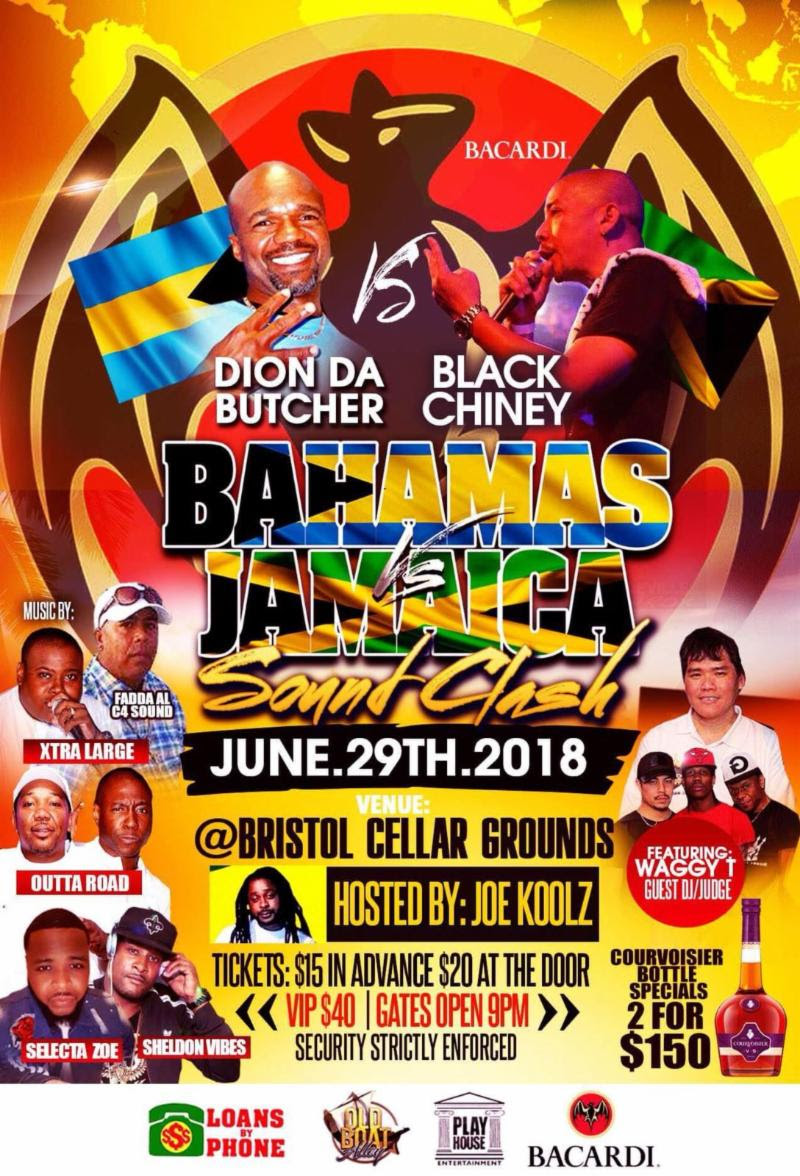Sound Clash Bahamas Vs Jamaica Dion Da Butcher Black Chiney
