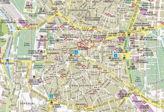 Mapa de Madri