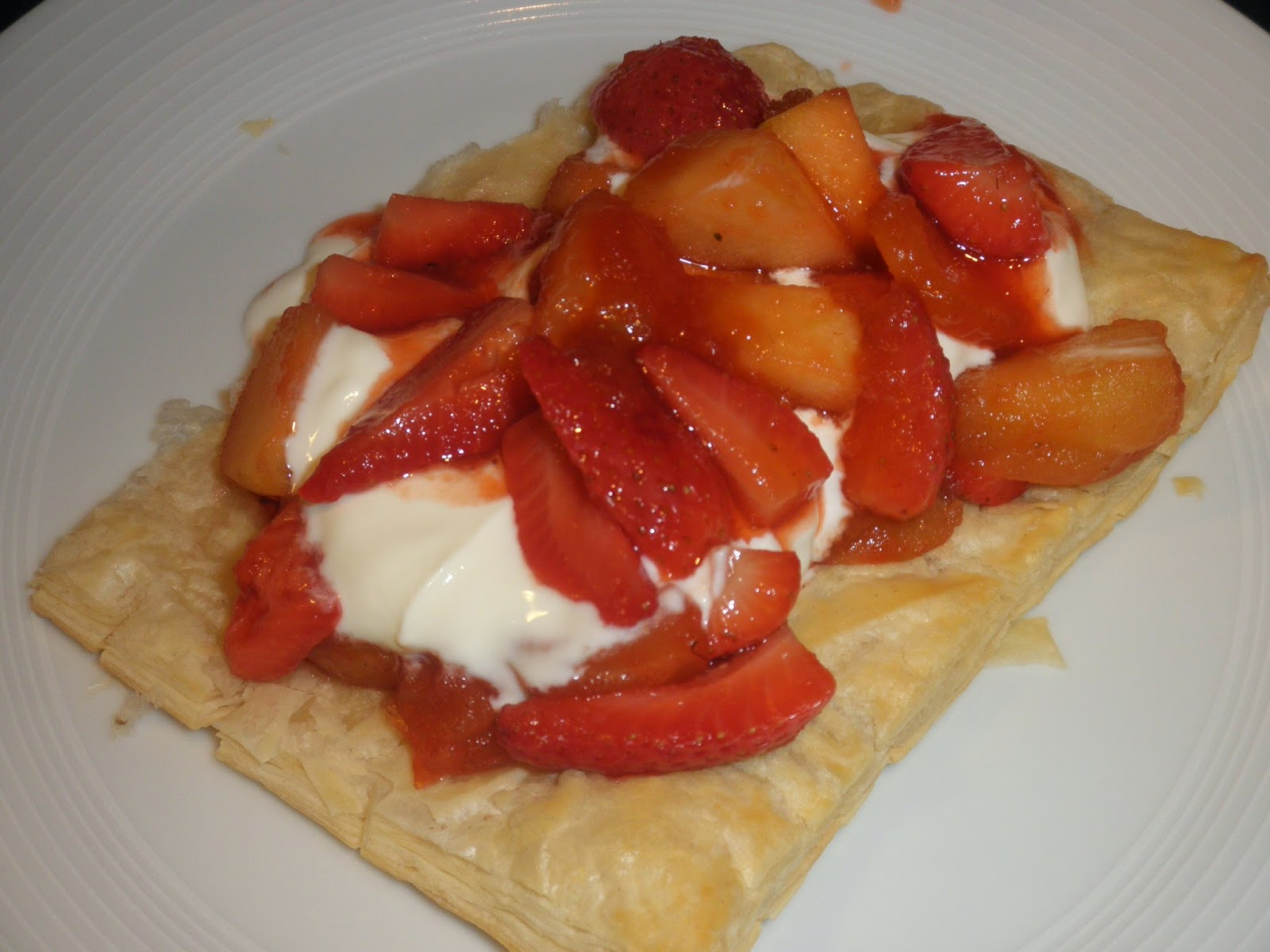 Apple & strawbrry compote