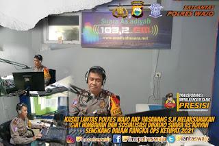 Kasat Lantas Polres Wajo, Beri Himbauan Dan Sosialisasi Lewat Radio