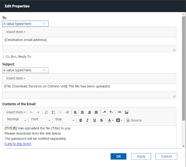 Edit properties