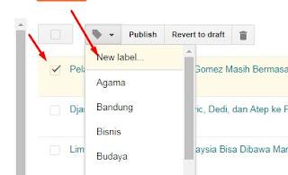 Cara Menambah & Mengubah Label di Postingan Lama