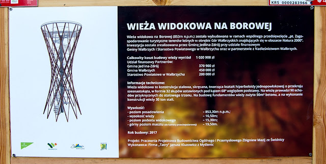 Parametry wieży widokowej na Borowej