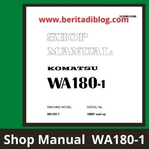 Komatsu Wheel loader Shop manual WA180-1