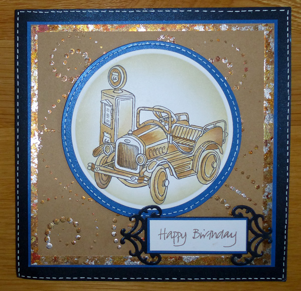 Mens Card with vintage car