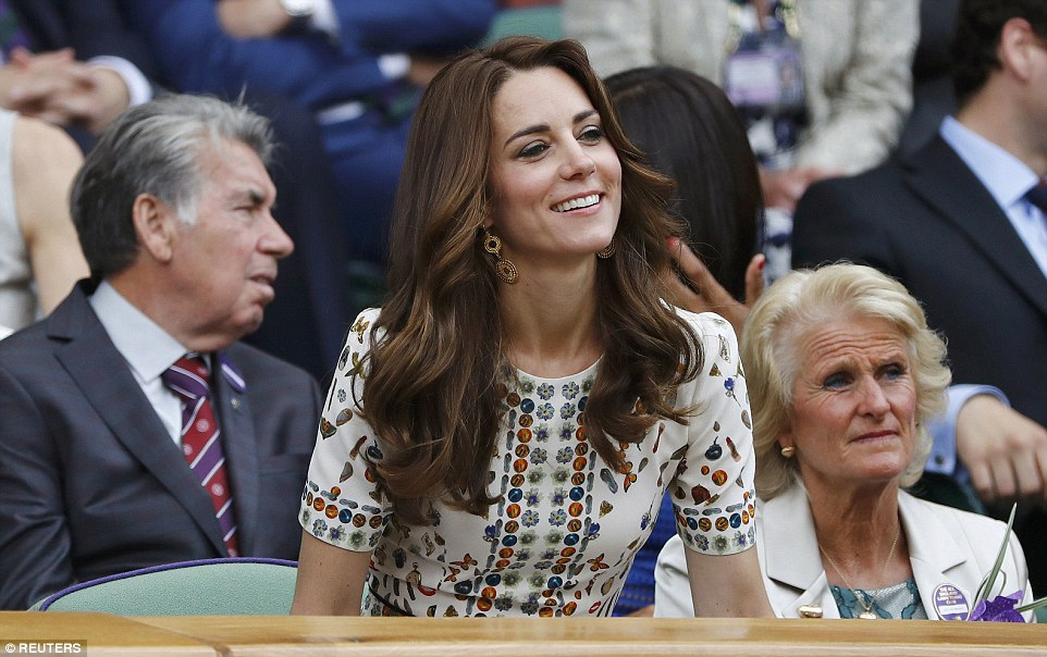 The Duke and Duchess of Cambridge headed to Wimbledon on Sunday to support Andy Murray