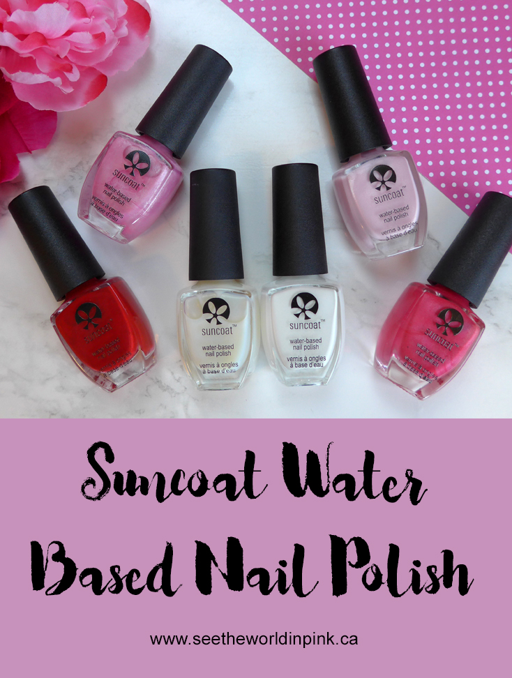 Manicure Monday - Suncoat Water Based Nail Polishes Swatches and Review