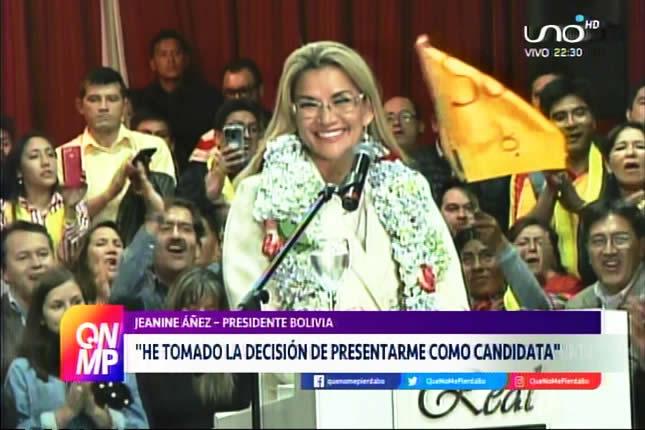 Presidenta Jeanine Añez confirma candidatura; Sol.bo y Demócratas le dan su apoyo