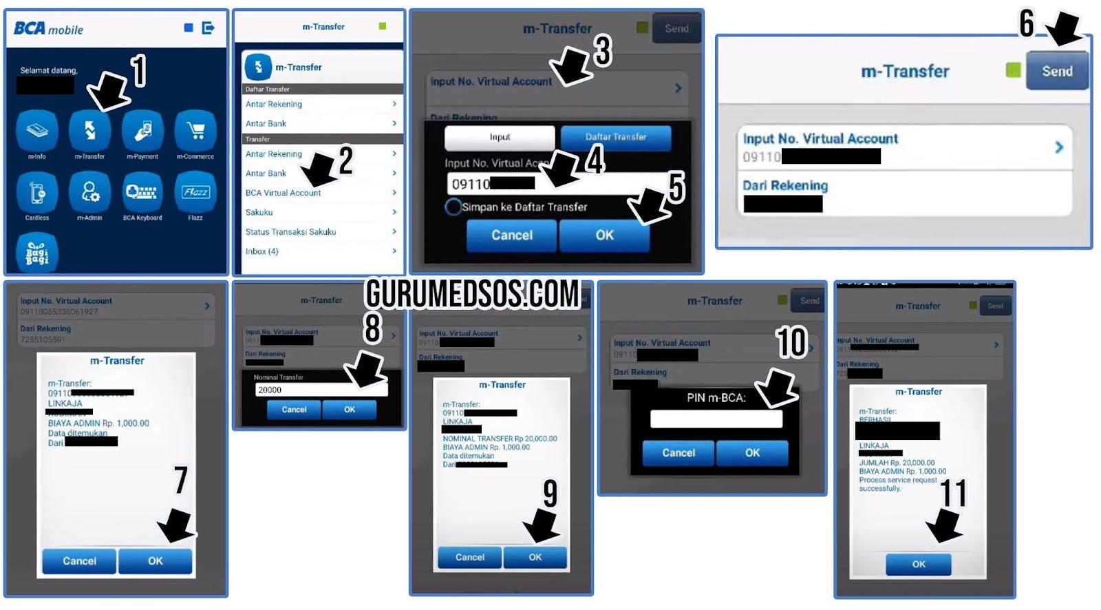 Cara Top Up Linkaja Via m Banking BCA