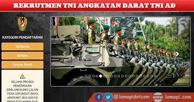 Pendaftaran Calon Taruna Akademi Militer