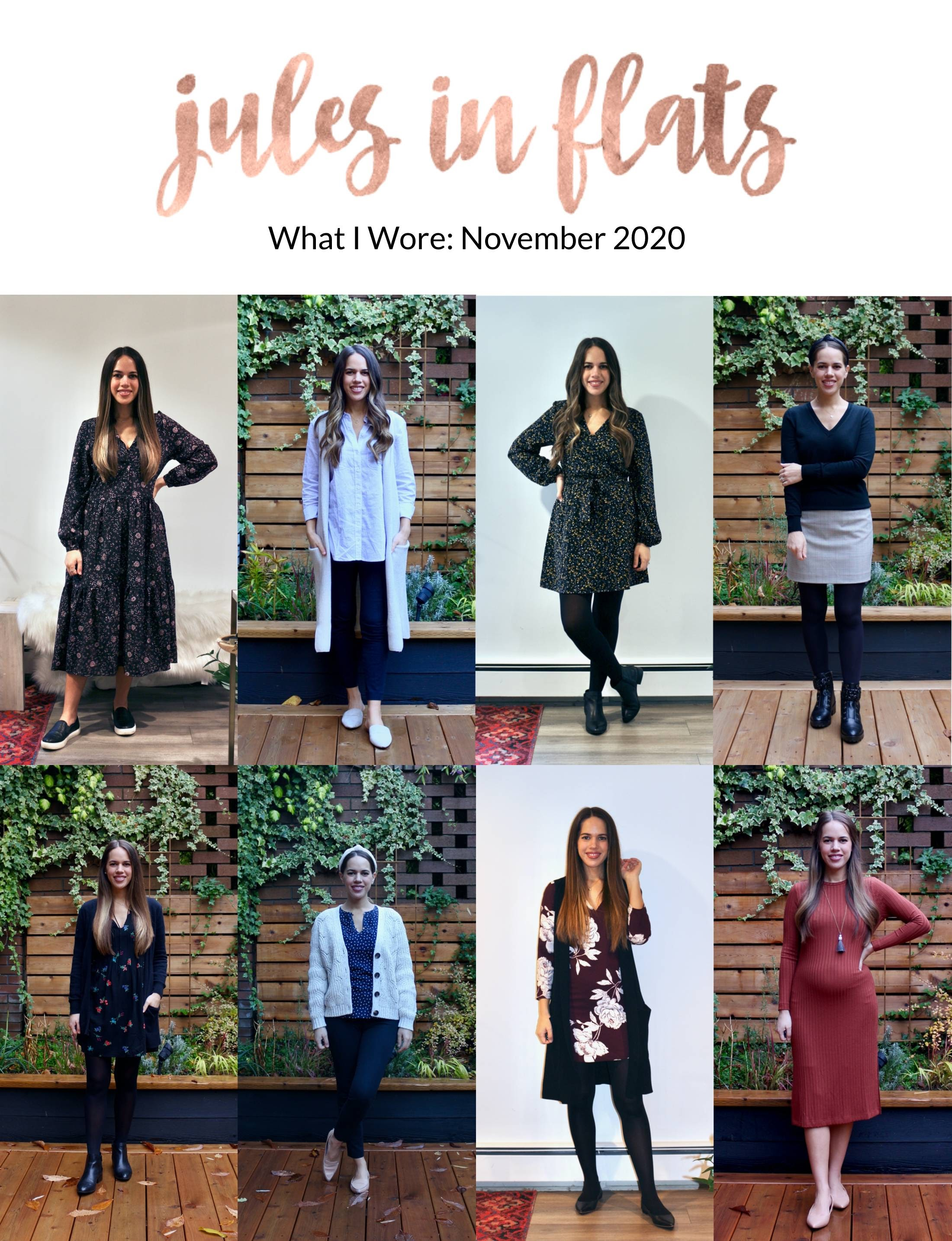 Jules in Flats - Monthly Outfit Roundup November 2020