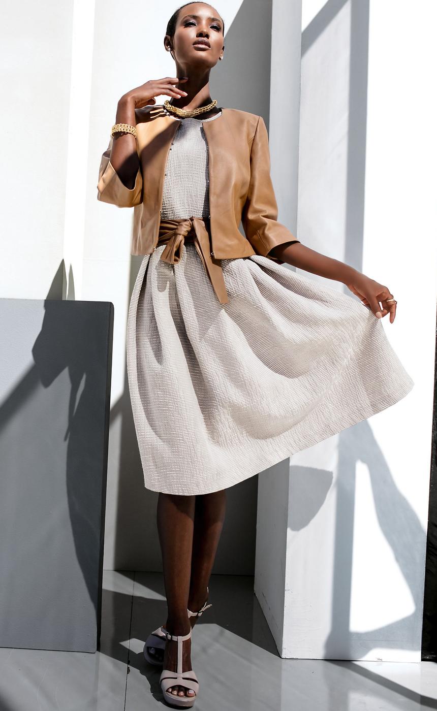 Madeleine Carmel Leather Jacket