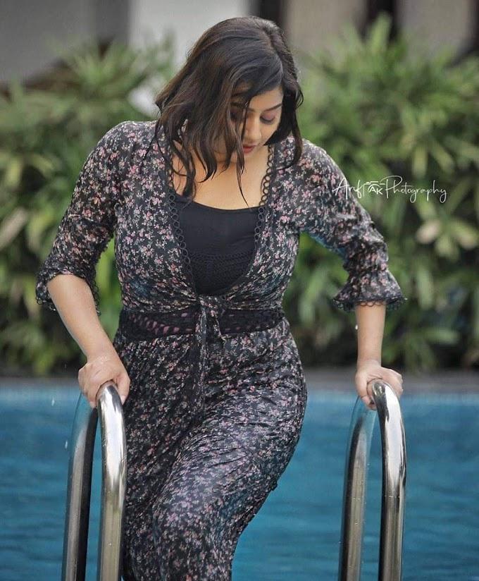 South Indian Actress Ansiba Hassan Latest Hot Stills