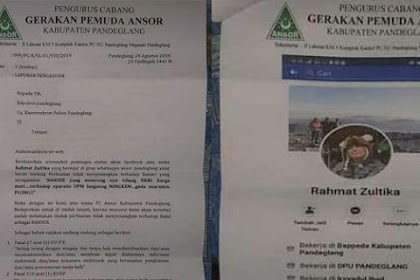 Sebut Banser Mingkem terhadap OPM, Oknum ASN Dilaporkan ke Polisi