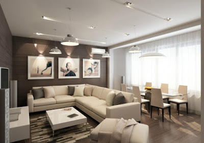 living dining room ideas in modern style open plan apartment