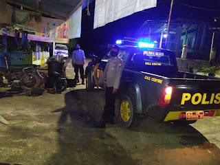 Cegah Terjadinya Gangguan Kamtibmas, Personel Polsek Malua Laksanakan Patroli Blue Light