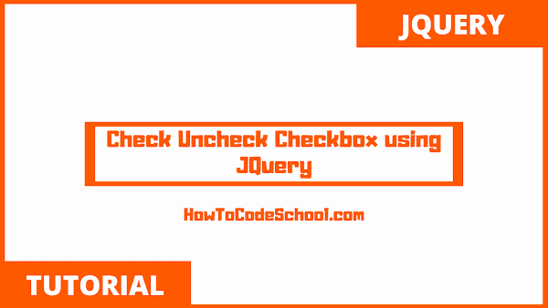 Check Uncheck Checkbox using JQuery