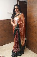Udaya Bhanu lookssizzling in a Saree Choli at Gautam Nanda music launchi ~ Exclusive Celebrities Galleries 049.JPG