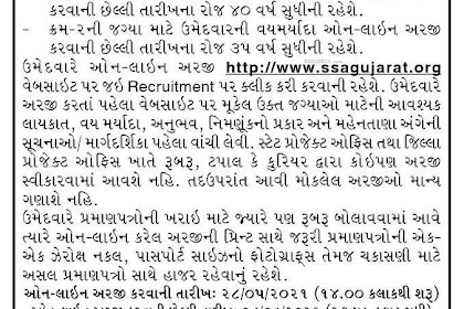 SSA Gujarat Recruitment 2021 Apply for Project Coordinator and District Accounting Officer