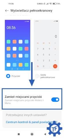 Xiaomi zmiana kolejności przycisków