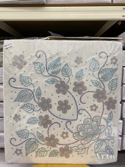 Hotfix stickers dmc rhinestone aplikasi tudung bawal fabrik pakaian bunga mekar dan dedaunan