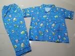 Jual Baju Tidur Anak Bahan Katun S 5-6 tahun Keroppy biru