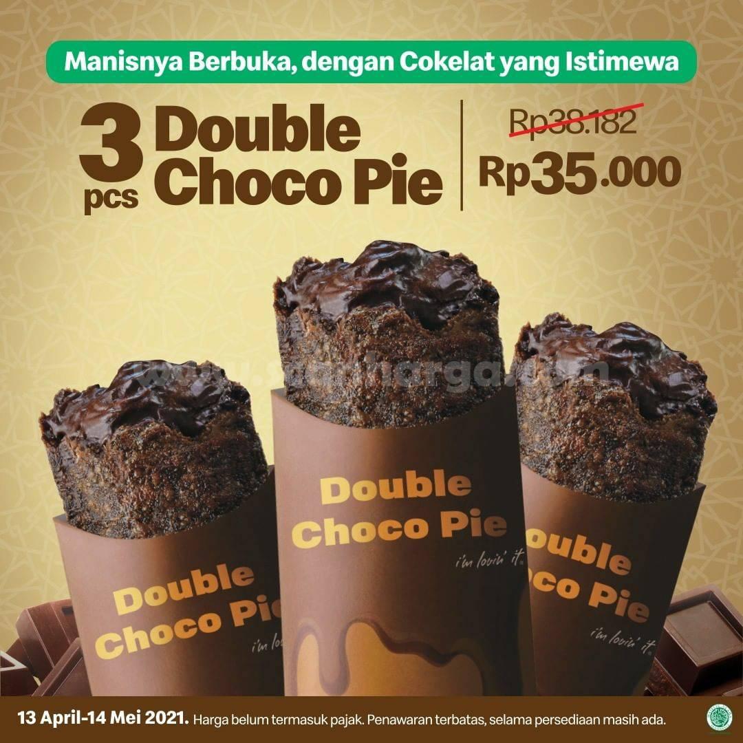 Promo McDonalds 3 Pcs Double Choco Pie harga cuma 35 Ribuan