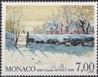 monaco claude monet. snow