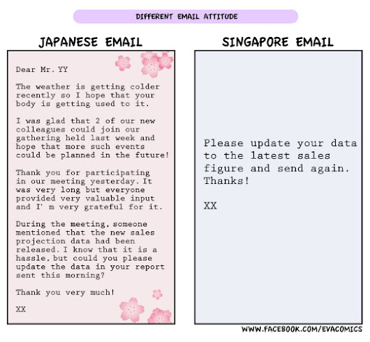 Japanese style email 日式電郵就是非一般的長...