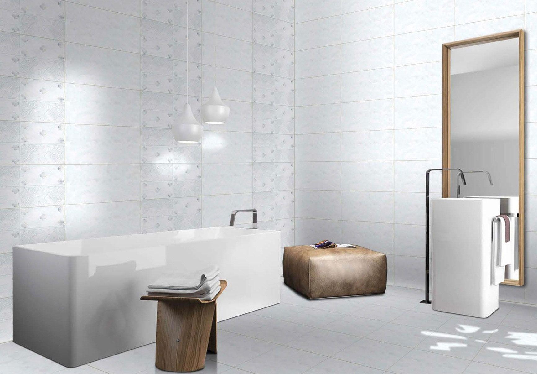 white porcelain wall tiles