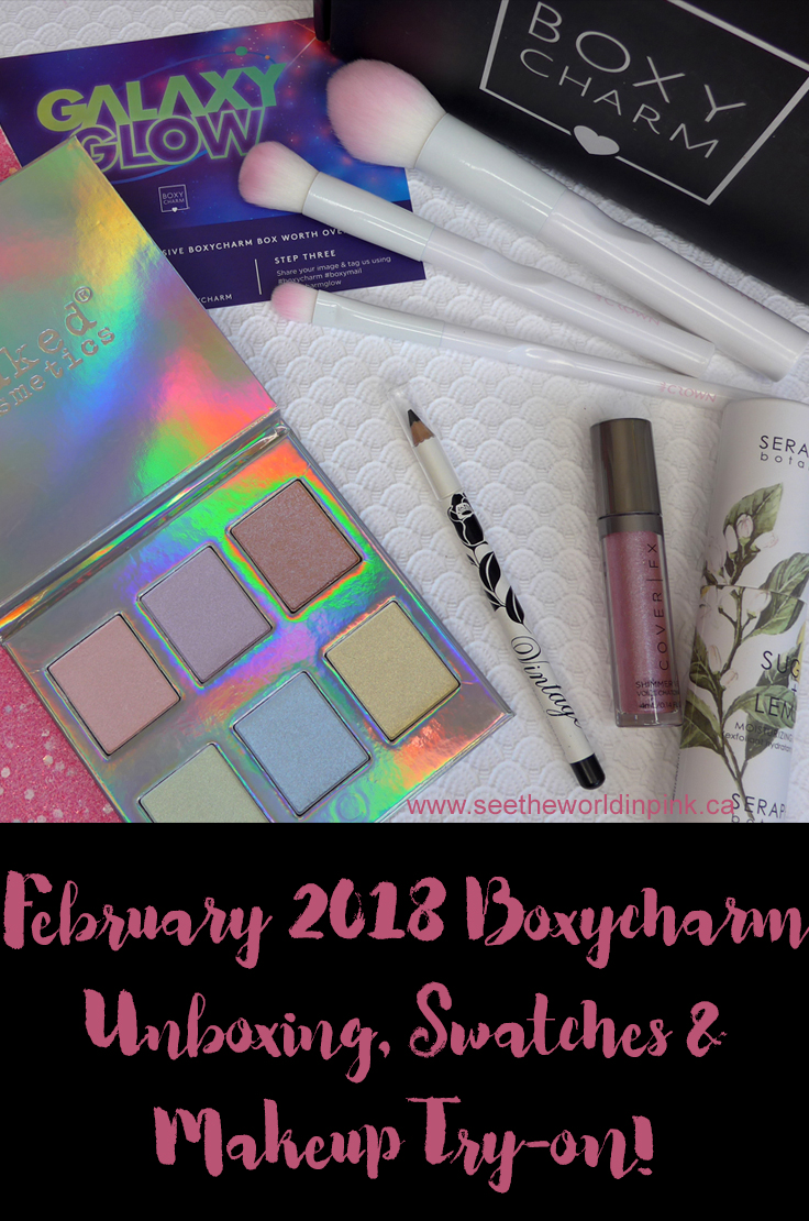 February 2018 Boxycharm - Unboxing, Review, and Full Make-up Look!