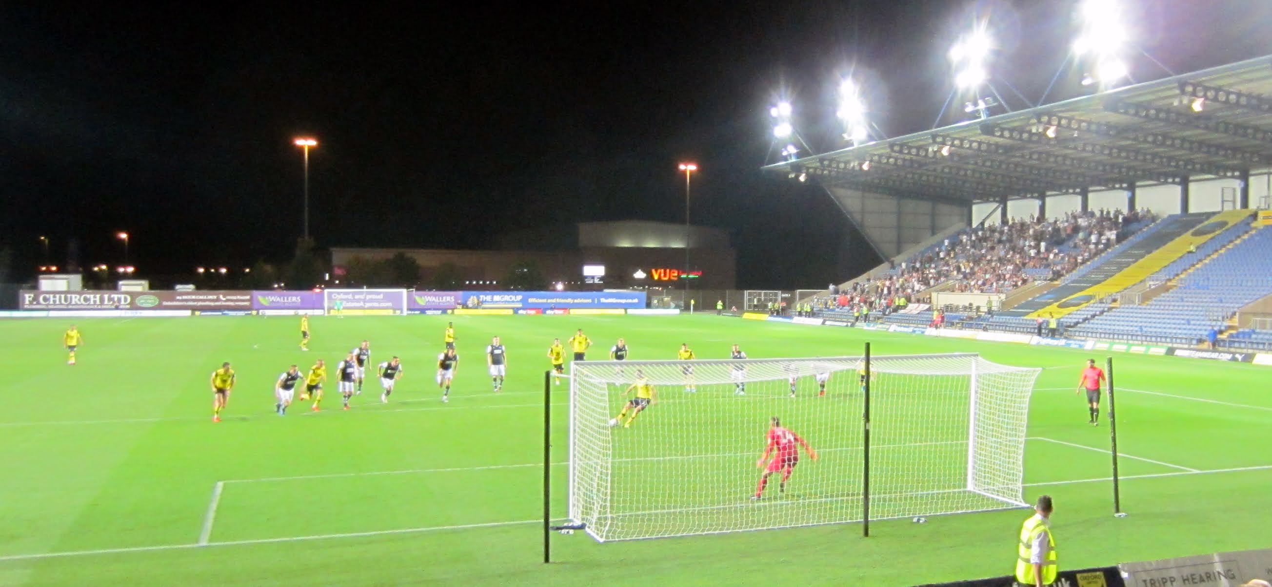 James Henry scores a penalty during Oxford United vs. Millwall