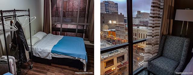 Comparação entre hospedagens em Memphis e Nashville