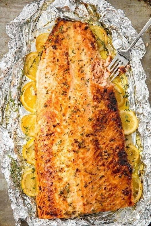 Salmon Baked In Foil
