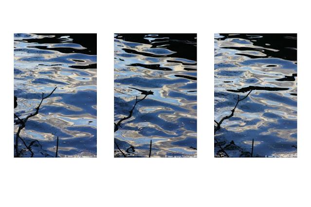 Ambiance zen aquatique avec cette Mise en Seine en triptyque