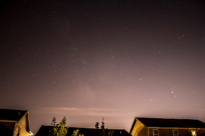 backyard milky way with light pollution