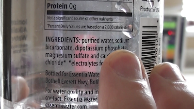 Essentia 9.5 ingredients - sodium bicarbonate