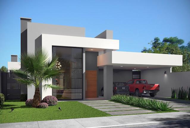 casa com fachada moderna 3 quartos sendo 1 suite