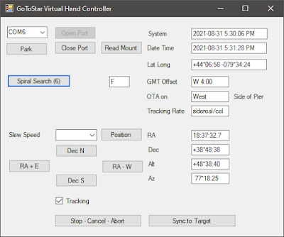 VHC with spiral search button